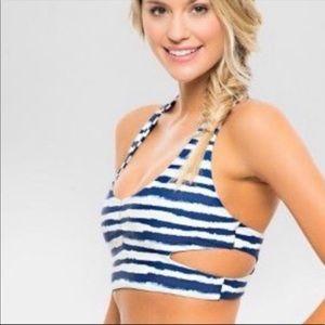 Tori Praver Swimwear Striped Bikini Top medium